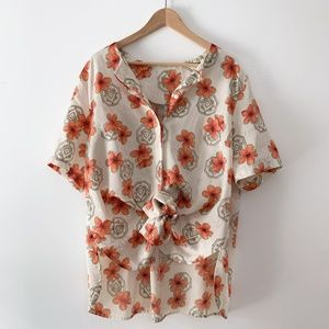 Vintage Boxy Floral Blouse or Tunic